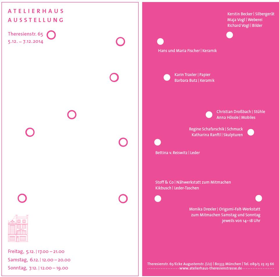2014 Atelierhaus Theresienstr München Ausstellung