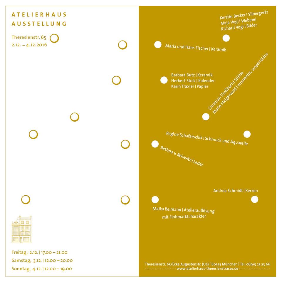 2016 Atelierhaus Theresienstr München Ausstellung